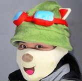 Tanboo LOL Teemo Cosplay Cute Hat + Mask, Teemo Hat Teemo Mask,with Tanboo Card and Bow Box