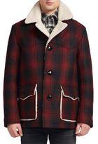Saint Laurent Faux-Shearling Lined Plaid Jacket