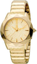 Just Cavalli 35mm Rock Sangallo Bracelet Watch, Yellow Golden
