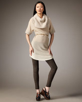 Walsh Cashmere Dress & Suede Leggings