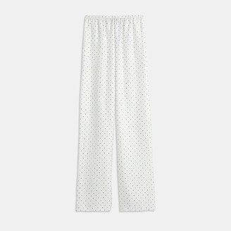 Theory Pull-On Pant in Dotted Silk