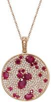 Effy Jewelry Effy Gemma 14K Rose Gold Natural Ruby and Diamond Pendant, 4.19 TCW