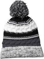 Sport-Tek Warm Pom Team Chunky-Knit Beanie__OSFA