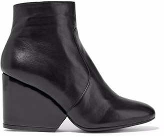 Clergerie Toots Leather Wedge Ankle Boots