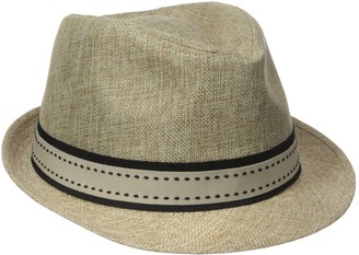 Henschel Men's Low Crown Fedora with Fancy Stitch Band and Loop