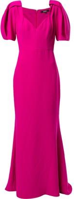 Badgley Mischka short-sleeve maxi dress