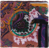 Etro multi-print scarf - women - Silk/Linen/Flax - One Size