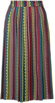 Holly Fulton ethnic print pleated skirt - women - Silk - 10