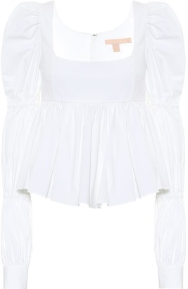 Brock Collection Rperp stretch-cotton blouse