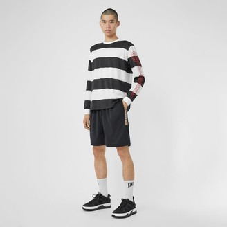 Burberry Vintage Check Trim Technical Twill Shorts