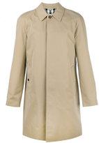 Burberry long gabardine car coat - men - Cotton - 50