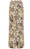Quiz Tropical Print Crepe Palazzo Trousers