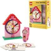 Lego Time Teacher Kids Minifigure Link Buildable Watch, Constructible Clock and Activity Cards | /white | plastic | 28mm case diameter| analog quartz | boy girl | official
