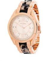 Steve Madden Women's Analog Two-Tone Crystal Bracelet Watch