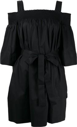 Twin-Set Twin Set smocked tie-waist dress