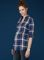 Isabella Oliver Dene Checked Maternity Shirt