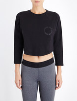 The Upside Nikko cotton-jersey cropped top
