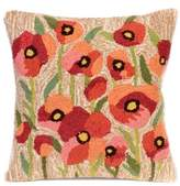 Liora Manné Frontporch Poppies Square Indoor/Outdoor Throw Pillow in Netrual