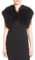 Badgley Mischka Women's Feather Shrug