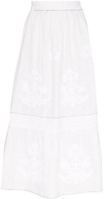 Vita Kin Daisy embroidered midi skirt