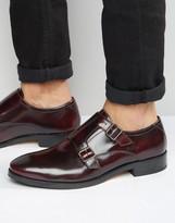 Base London Xxi Nash Leather Monk Shoes