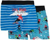 Hatley 2 Pack Boxers (Toddler/Kid) - Retro Ski-2