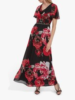 Thumbnail for your product : Gina Bacconi Mallie Floral Maxi Dress, Black