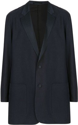 Julien David Longline Single-Breasted Blazer