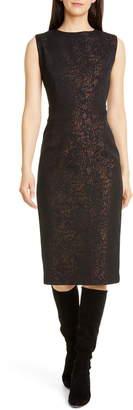 Seventy Metallic Leopard Jacquard Dress