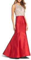 Xscape Evenings Women's Embellished Trumpet Gown