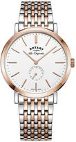 Rotary Rotary Windsor Swiss Movement White Dial Two Tone Bracelet Mens Watch