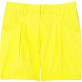 Turn-up cotton-blend shorts