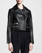 Rag and Bone Rag & Bone Hudson Mixed-Leather Jacket