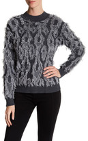 Milly Clipped Contrast Pullover
