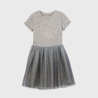 Cat & Jack Girls' Short Sleeve Cozy Tulle Dress - Cat & JackTM