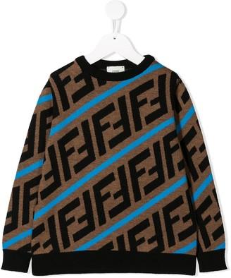 Fendi Kids FF logo sweater