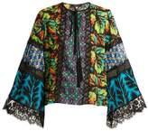 Andrew Gn Multi-print silk-blend georgette blouse