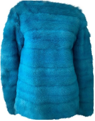 Gianfranco Ferre Blue Faux fur Top for Women