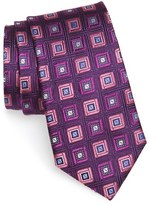 Nordstrom Men's 'City Diamond Neat' Square Medallion Silk Tie
