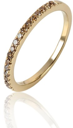 The Factory By Ribas 14K Gold Ring With Cognac Color Diamonds