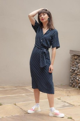 Nice Things Bubbles Dots Navy Dress - 34