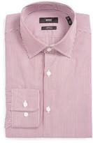 BOSS Men's Marley Us Sharp Fit Easy Iron Stripe Dress Shirt