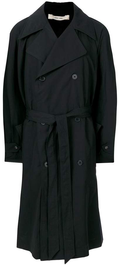 Damir Doma double breasted trench coat