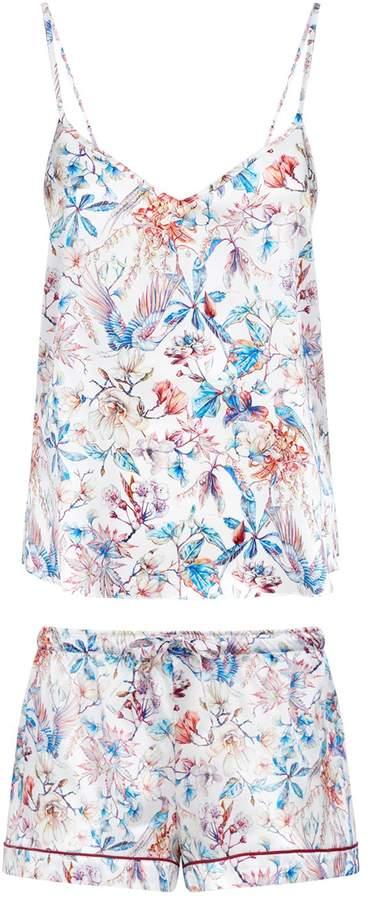 Derek Rose Brindisi Wildlife Camisole and Shorts Pyjama Set