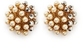 Miriam Haskell Beaded glass pearl cluster clip earrings