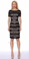 NUE by Shani Mixed Print Fitted Dress