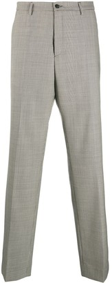 Maison Margiela Virgin Wool Houndstooth-Print Trousers