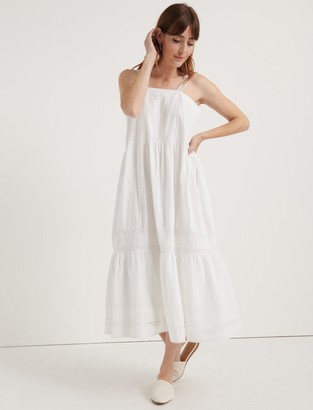 Lucky Brand Pomegranate Inset Cotton Voile Prairie Dress