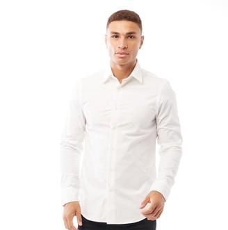 G Star G-STAR Mens Core Super Slim Shirt Long Sleeve Shirt White