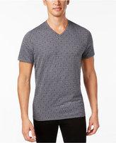 Alfani Men's Big and Tall V-Neck Geometric T-Shirt, Only at Macy's